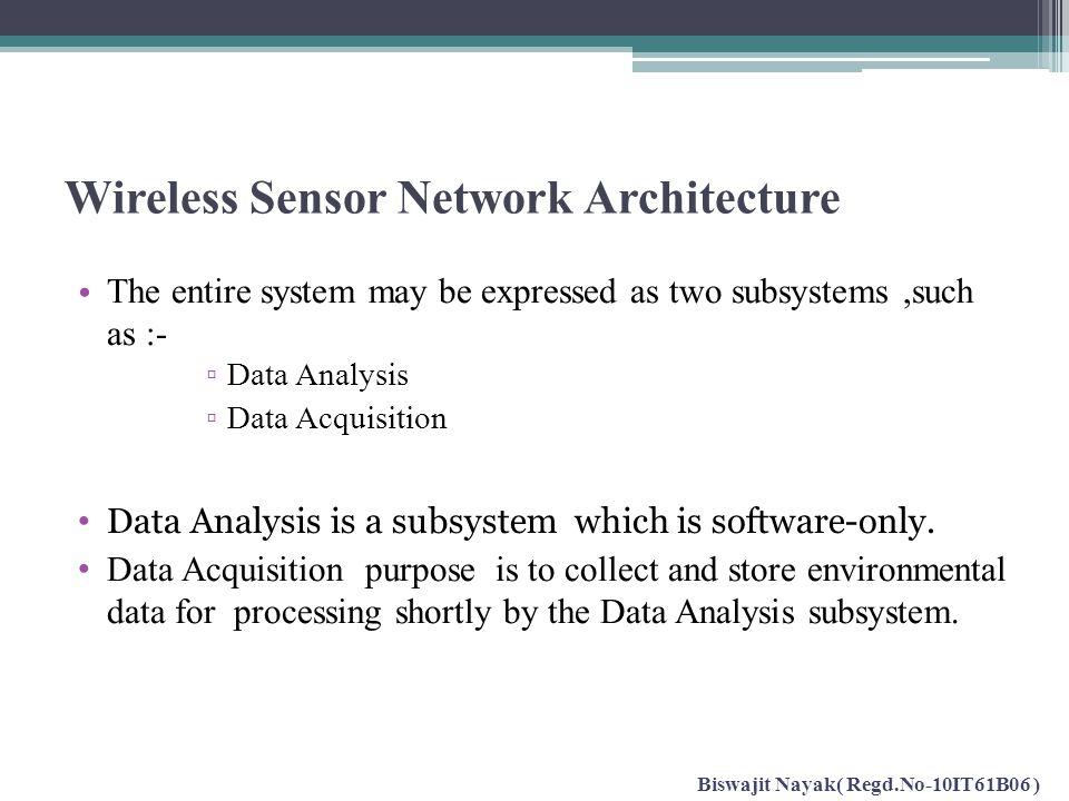 Wireless Sensor Network Architecture