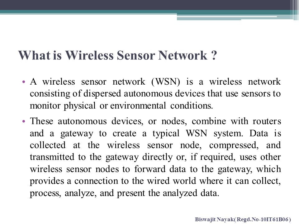 What is Wireless Sensor Network