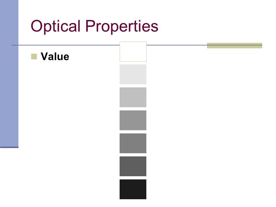 Optical Properties Value