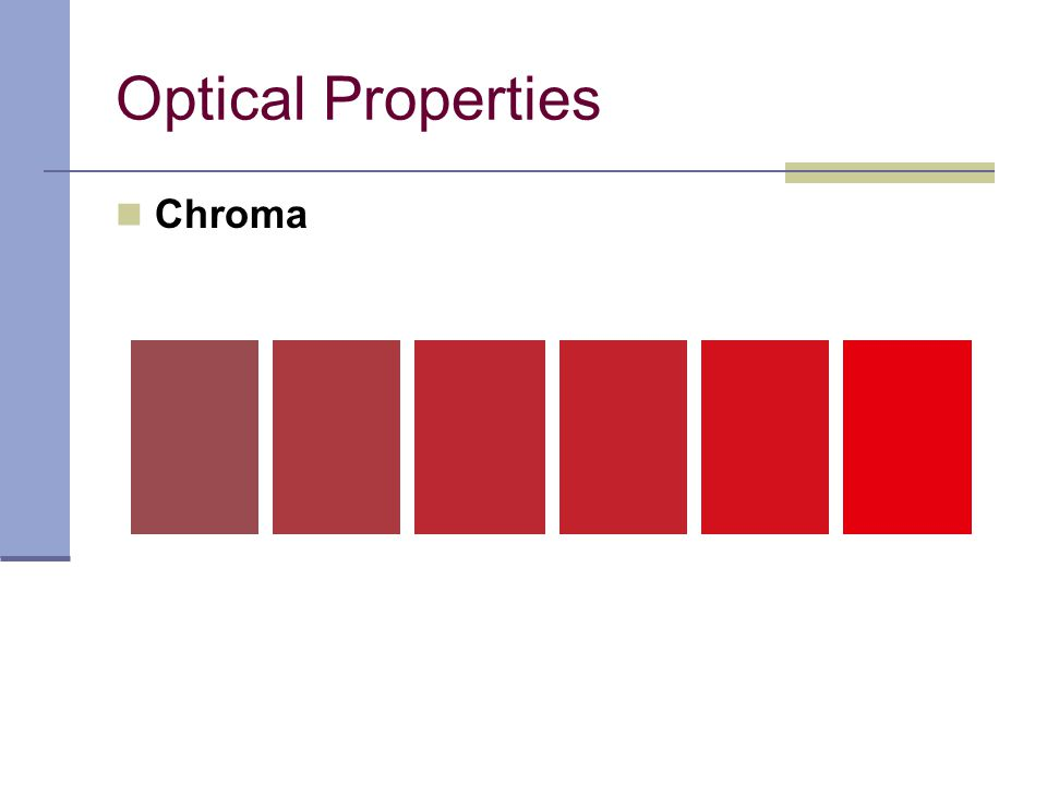 Optical Properties Chroma