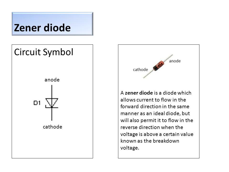 Zener diode Circuit Symbol