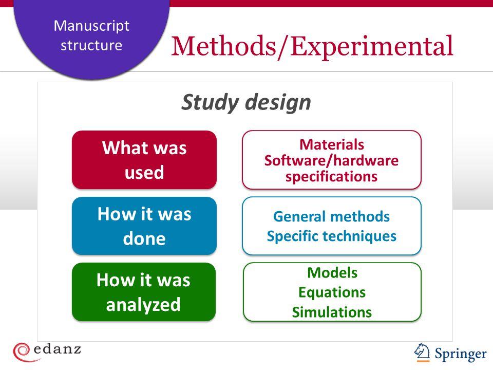 Methods/Experimental