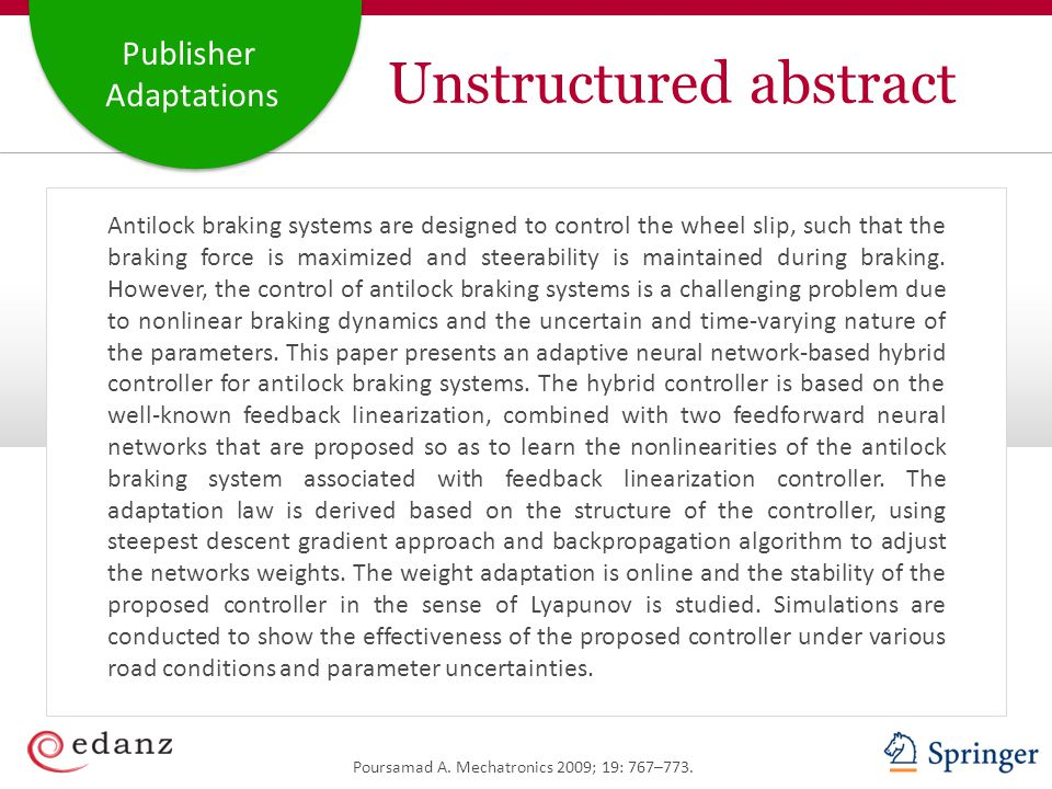 Unstructured abstract