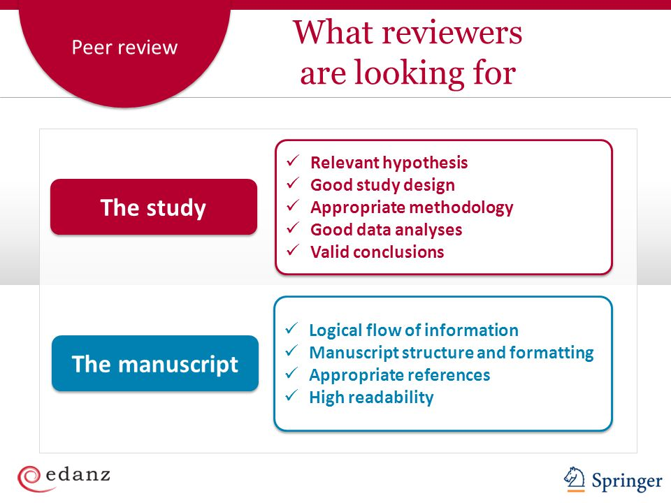 What reviewers are looking for