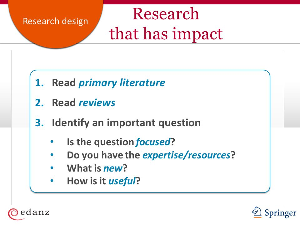Research that has impact
