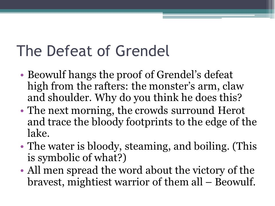 The Defeat of Grendel