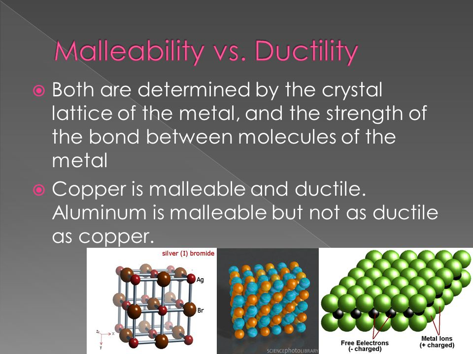 Malleability vs. Ductility
