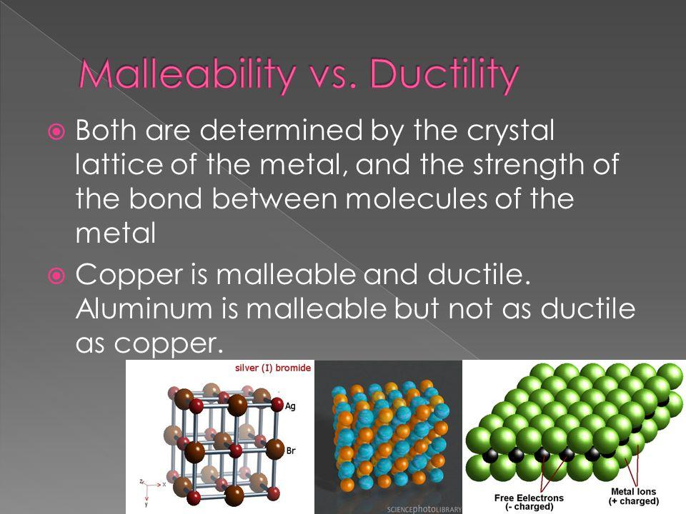 Malleability vs. Ductility