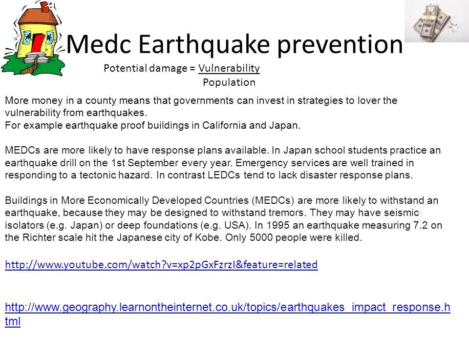 Medc Earthquake prevention