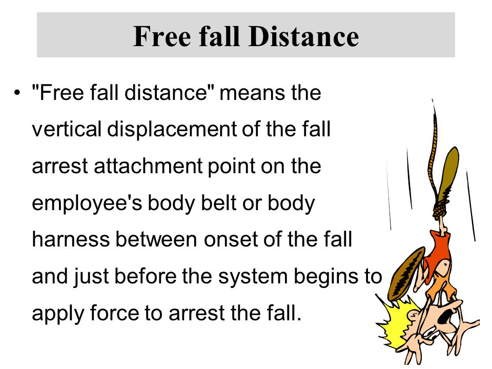 Free fall Distance