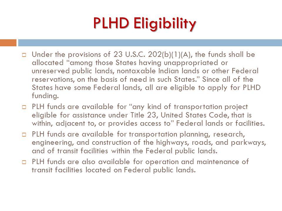 PLHD Eligibility
