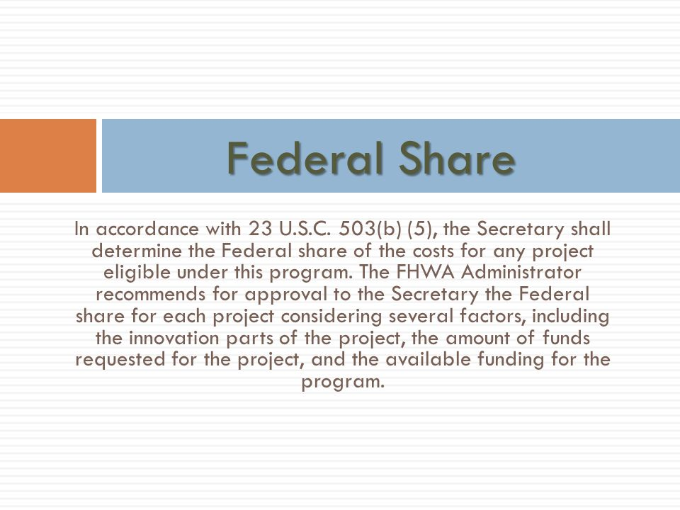 Federal Share