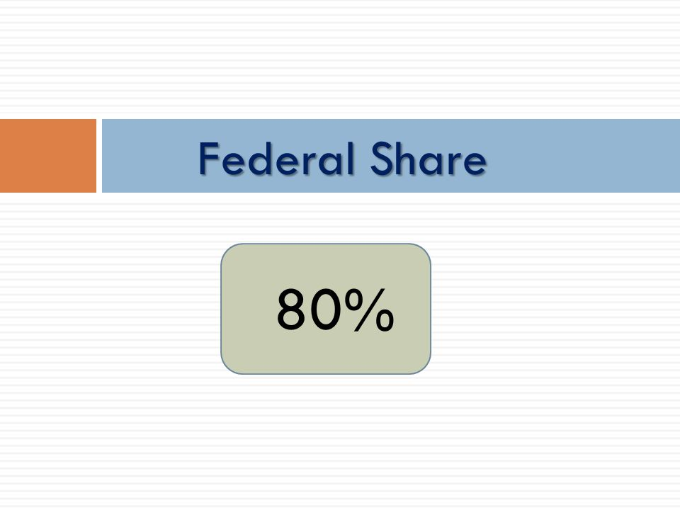 Federal Share 80%