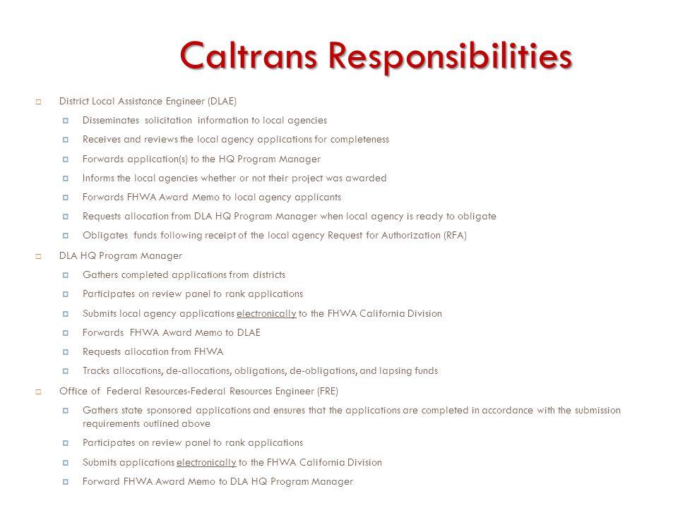 Caltrans Responsibilities