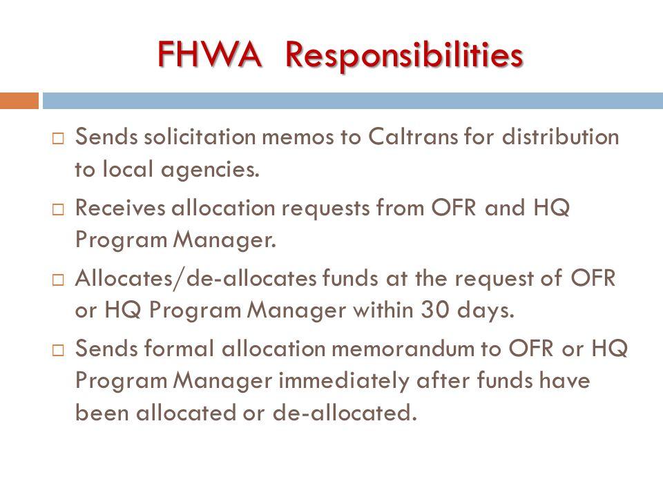FHWA Responsibilities
