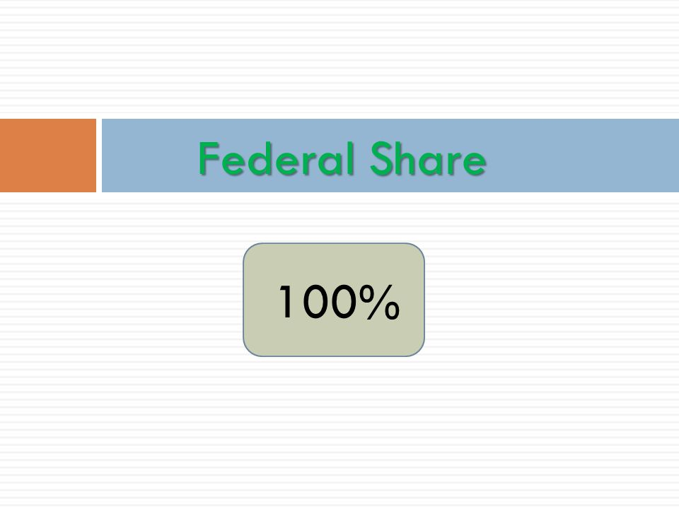Federal Share 100%