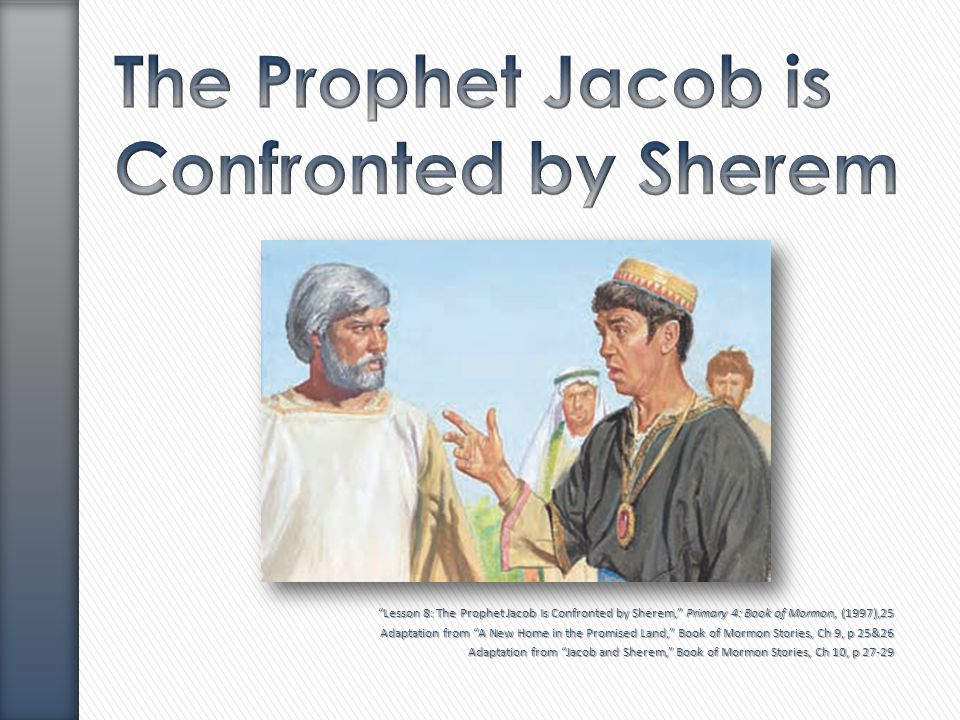 The Prophet Jacob is Confronted by Sherem