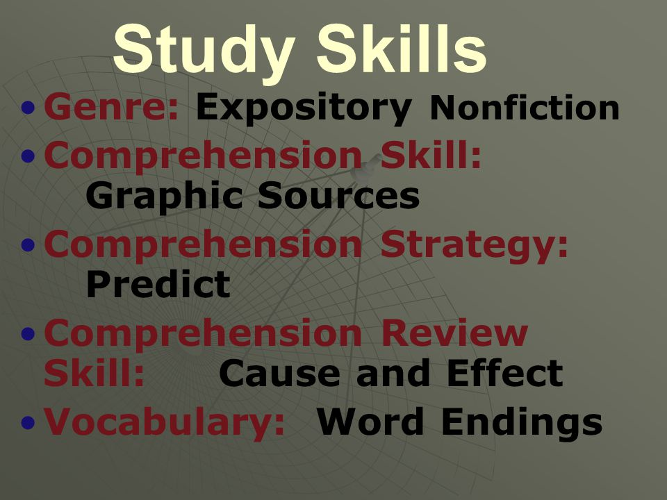 Study Skills Genre: Expository Nonfiction