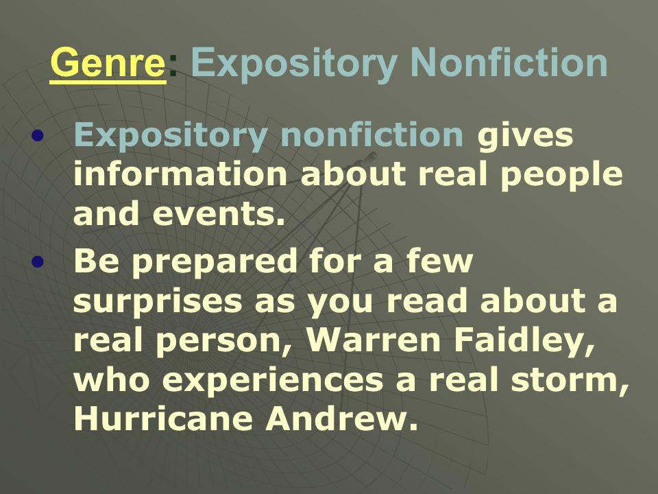 Genre: Expository Nonfiction