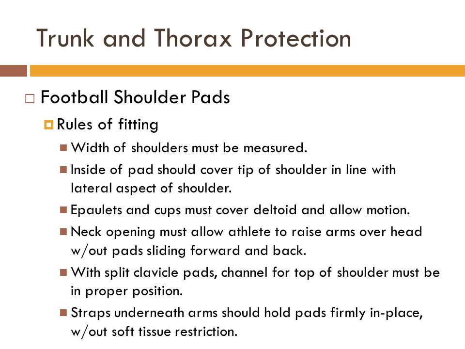 Trunk and Thorax Protection