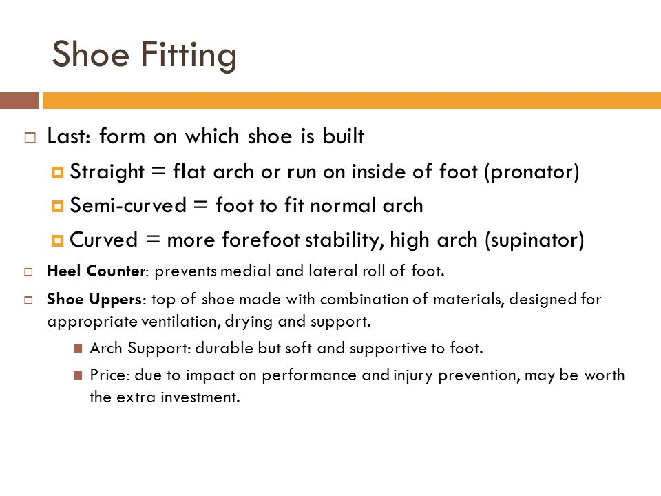 Shoe Fitting Last: form on which shoe is built