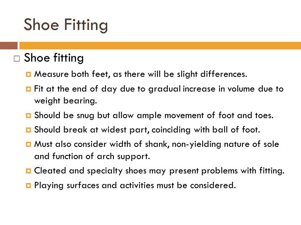 Shoe Fitting Shoe fitting