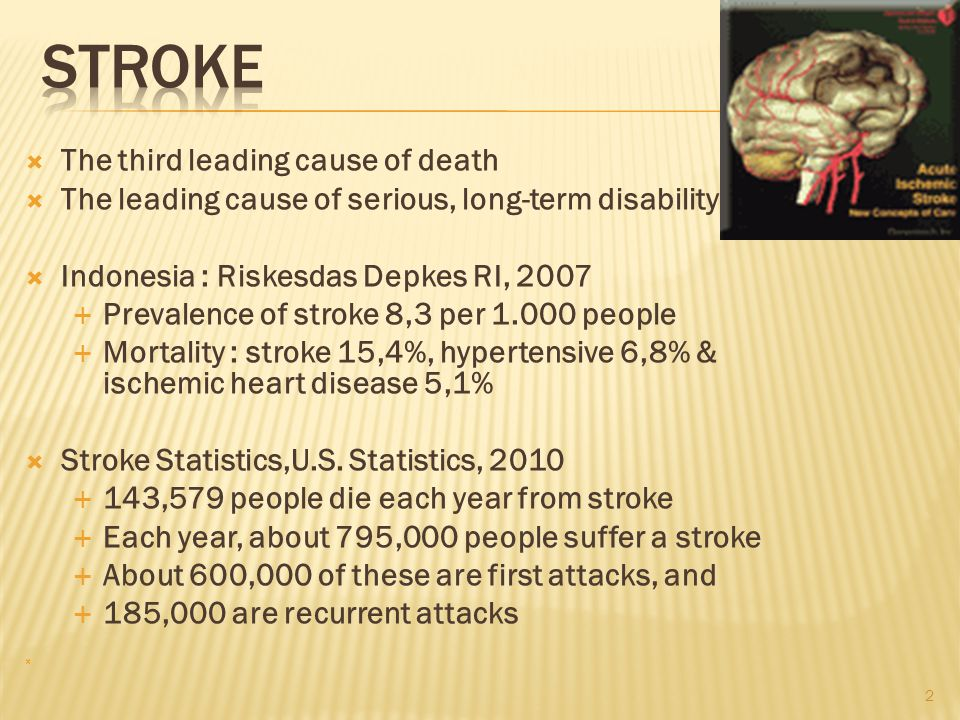 STROKE The third leading cause of death