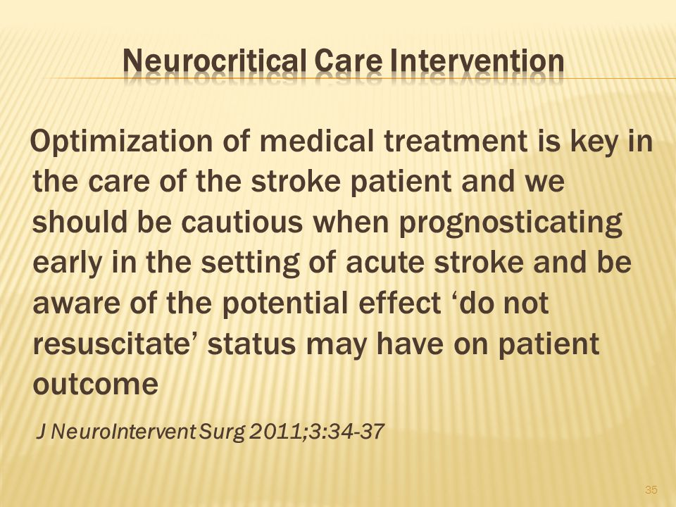 Neurocritical Care Intervention