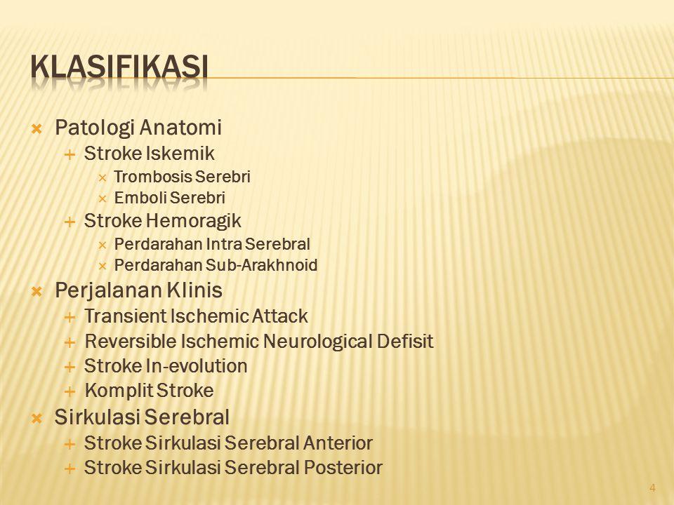 Klasifikasi Patologi Anatomi Perjalanan Klinis Sirkulasi Serebral