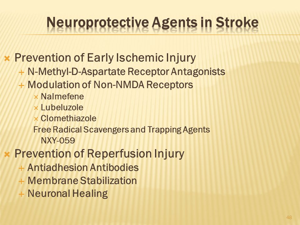 Neuroprotective Agents in Stroke