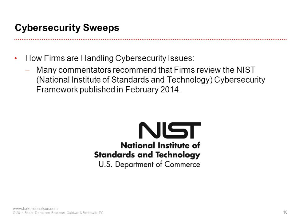 Cybersecurity Sweeps How Firms are Handling Cybersecurity Issues: