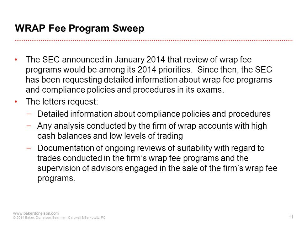 WRAP Fee Program Sweep