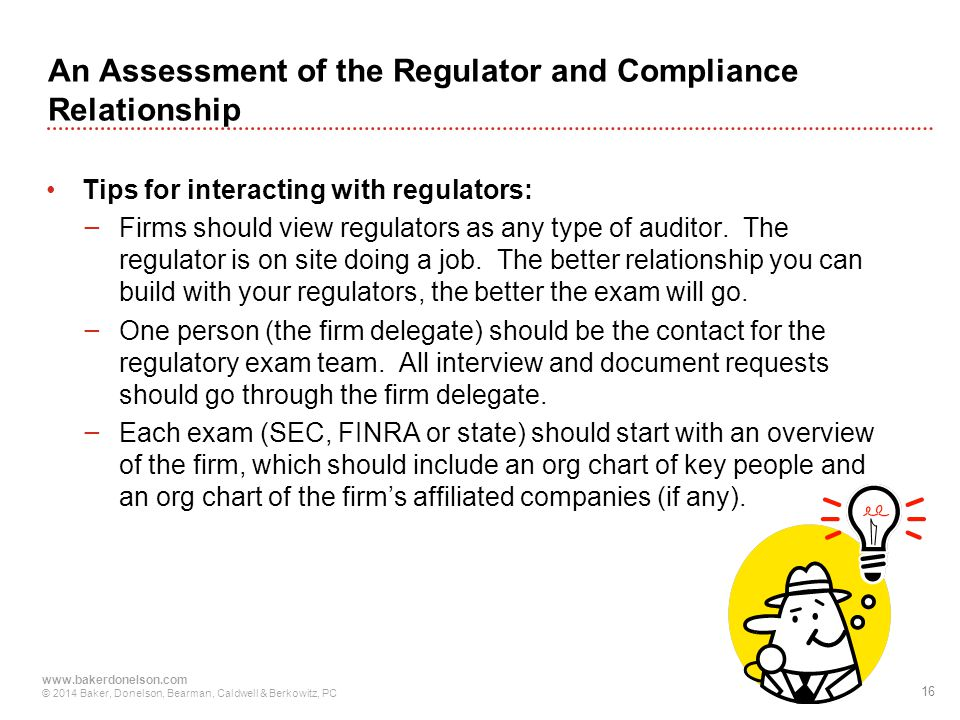 An Assessment of the Regulator and Compliance Relationship