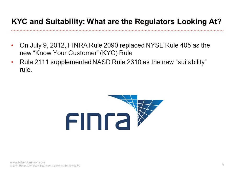 KYC and Suitability: What are the Regulators Looking At