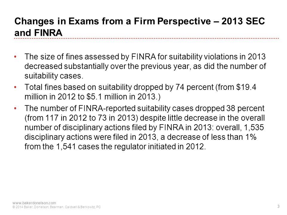 Changes in Exams from a Firm Perspective – 2013 SEC and FINRA