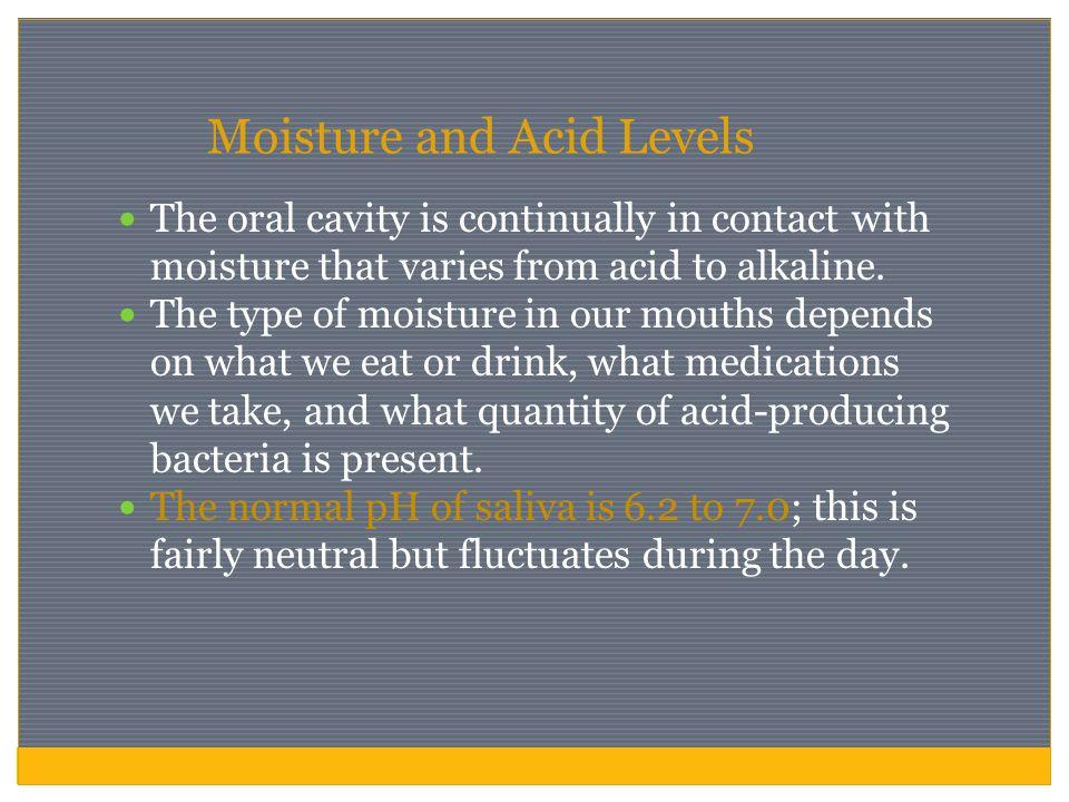 Moisture and Acid Levels