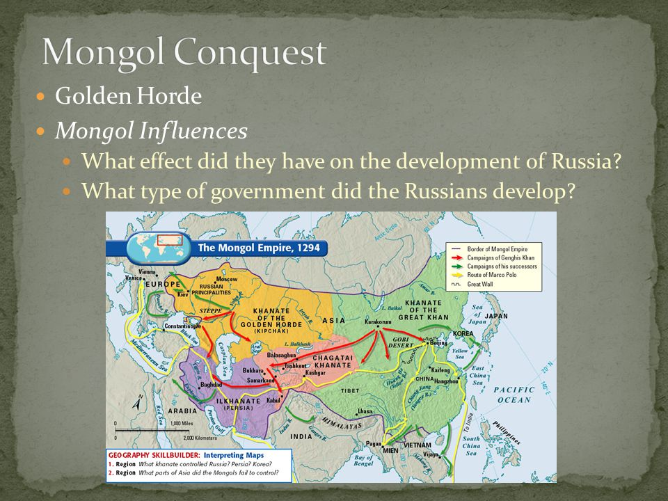 Mongol Conquest Golden Horde Mongol Influences