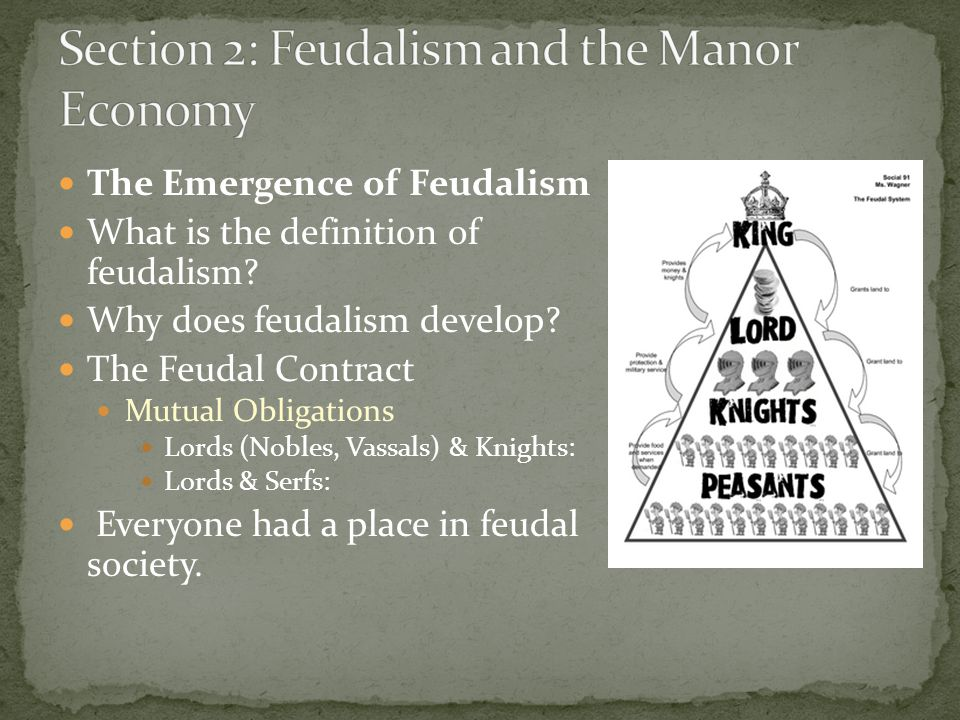 Section 2: Feudalism and the Manor Economy