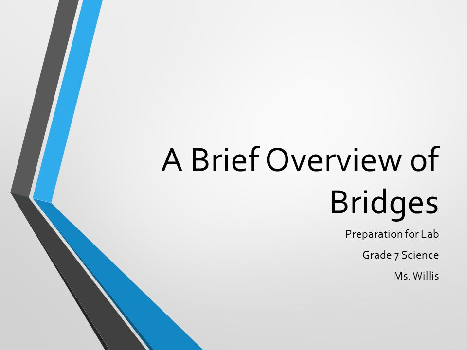 A Brief Overview of Bridges