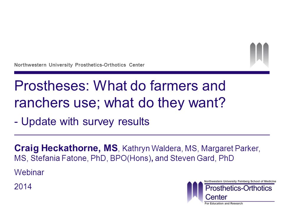 Prostheses for farmers and ranchers: What is used, what is needed