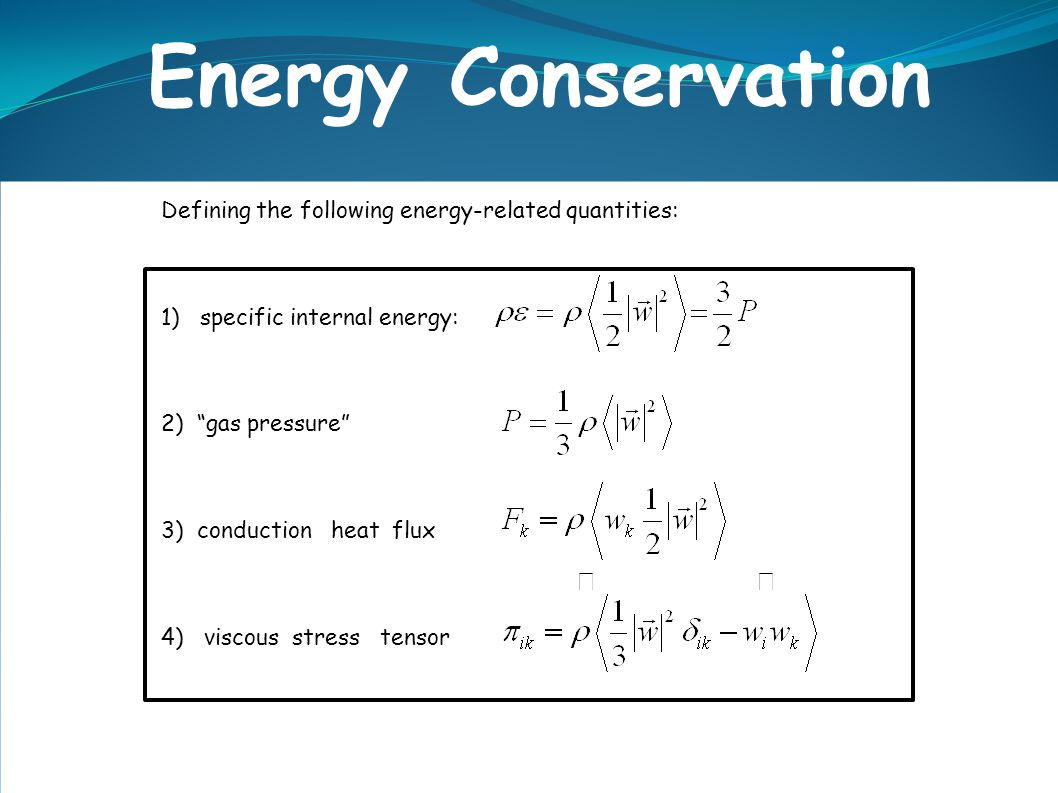 Energy Conservation  