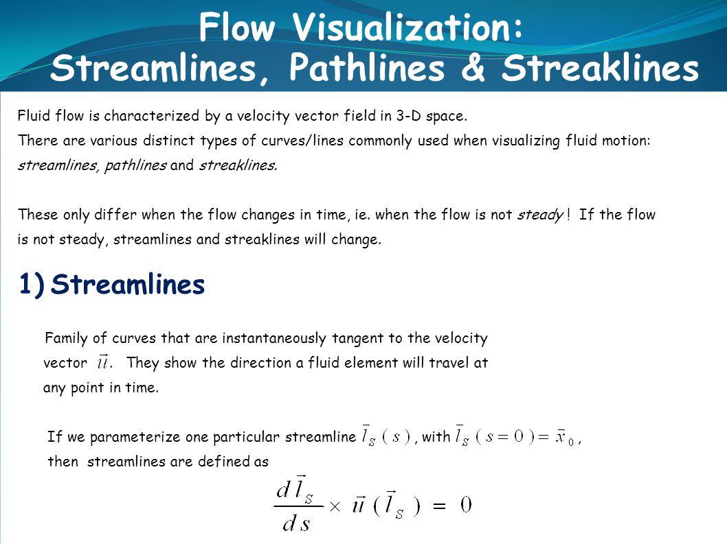 Streamlines, Pathlines & Streaklines