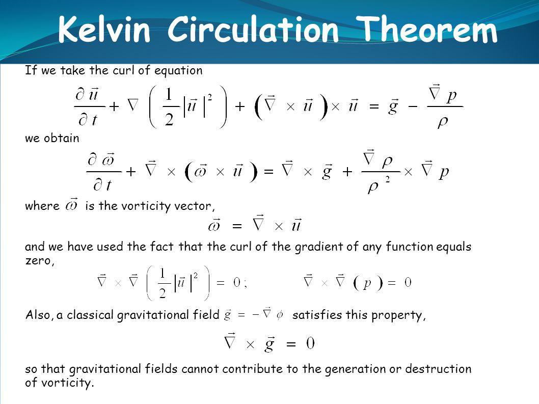 Kelvin Circulation Theorem
