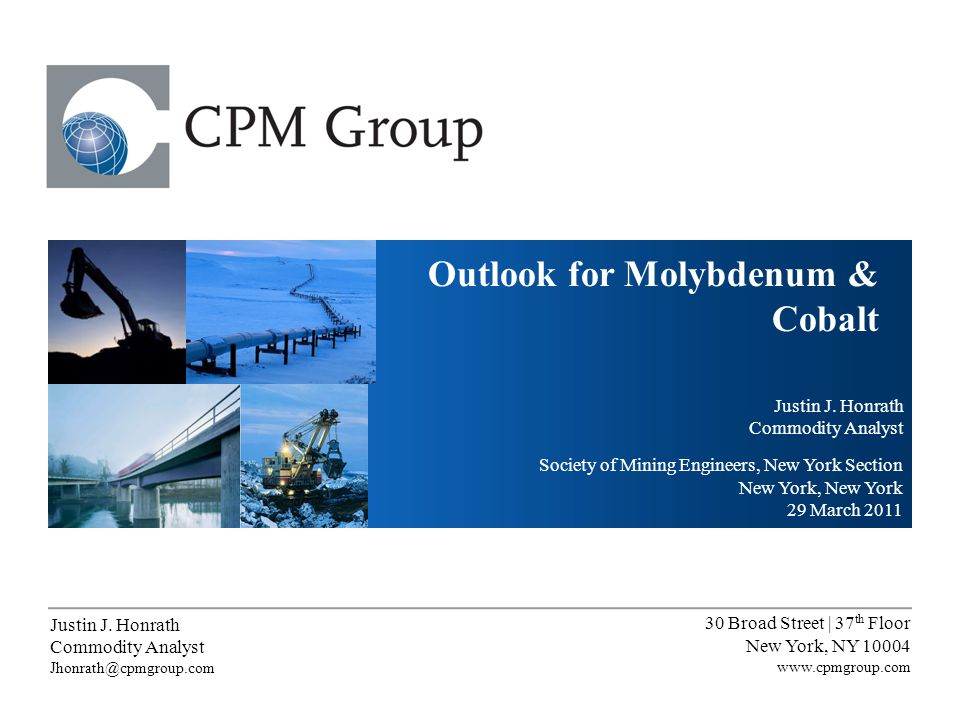 Molybdenum Strategic Investment Program: