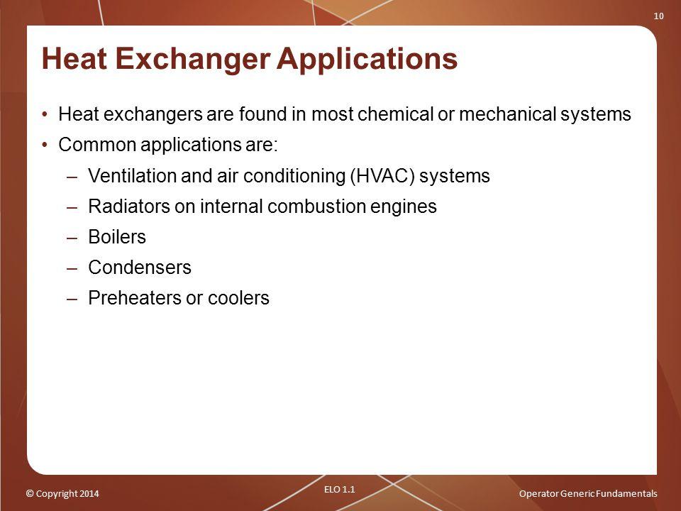 Heat Exchanger Applications