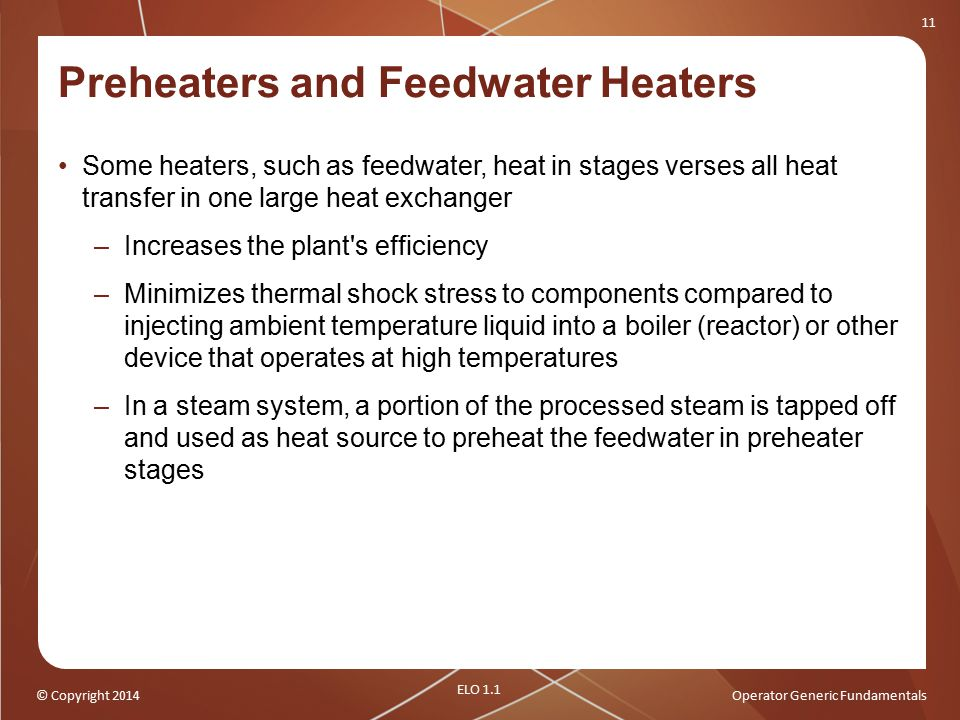 Preheaters and Feedwater Heaters
