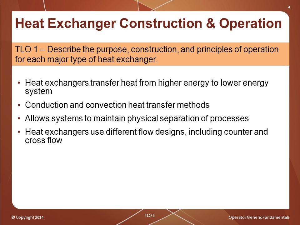 Heat Exchanger Construction & Operation