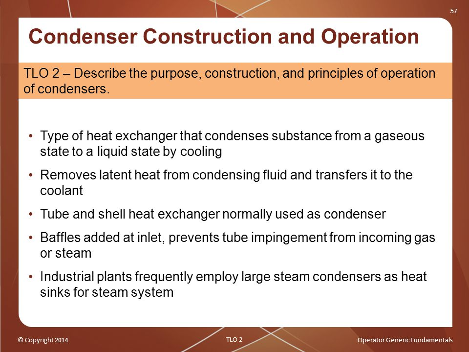 Condenser Construction and Operation