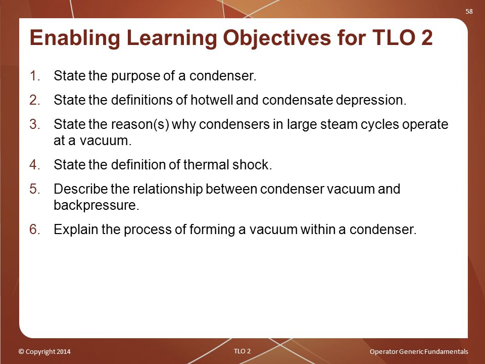 Enabling Learning Objectives for TLO 2