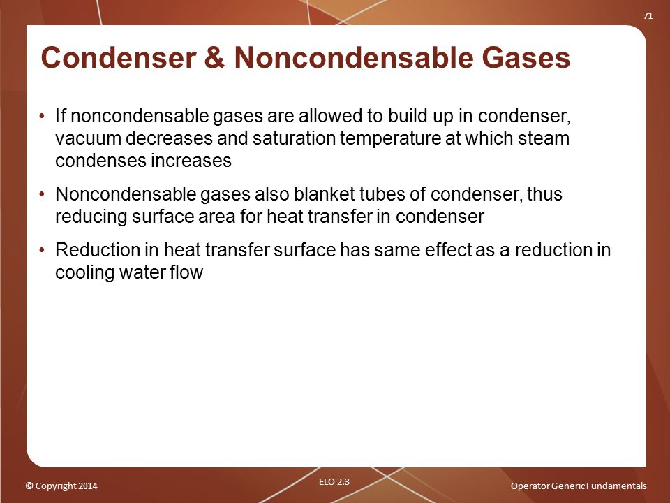Condenser & Noncondensable Gases